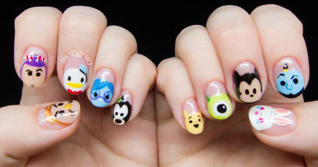 Disney Tsum Tsum Character Nail Art Chalkboard Nails Nail Art Blog