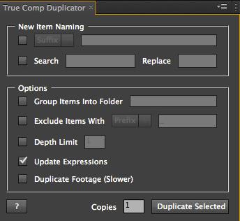 AEScripts True Comp Duplicator