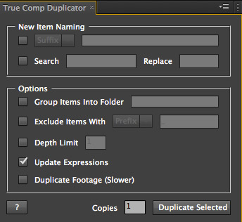 after effect plugin true comp duplicator free download