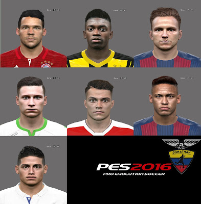 PES 2016 New facepack by Jonathan facemaker