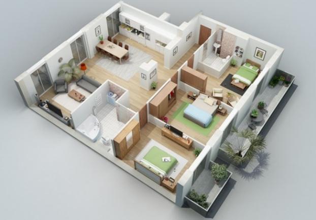 Contoh Denah Rumah Minimalis Type 54  contoh model desain rumah minimalis type 54 terbaru rumah