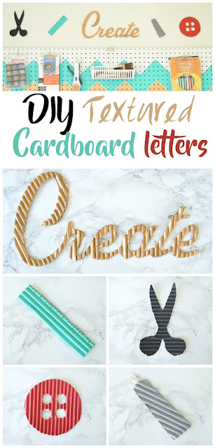 How to make curvy words using cardboard
