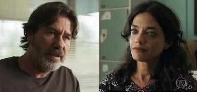 Padre Zoran (Angelo Coimbra) e Missade (Ana Cecília Costa) viverão romance em Órfãos da Terra