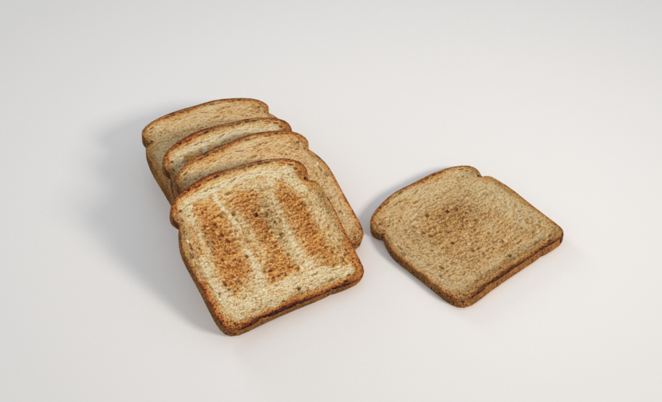 Free Toast Model + Vray Cinema 4D Textures | C4D Vray Source