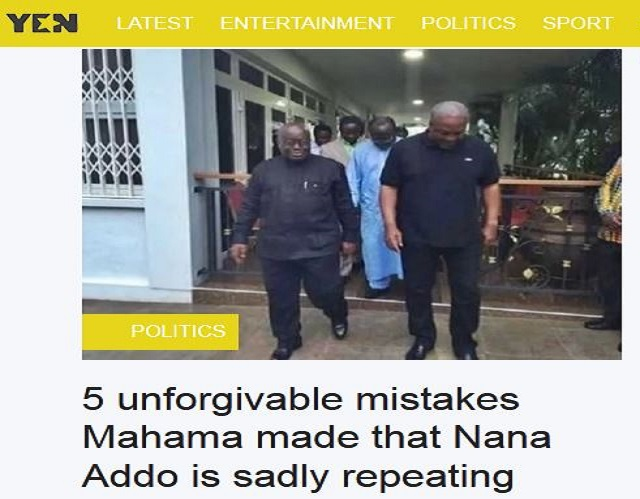 Five unforgivable mistakes Mahama made that Akufo-Addo is sadly repeating