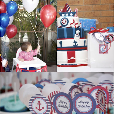 A 1st Birthday Nautical Party