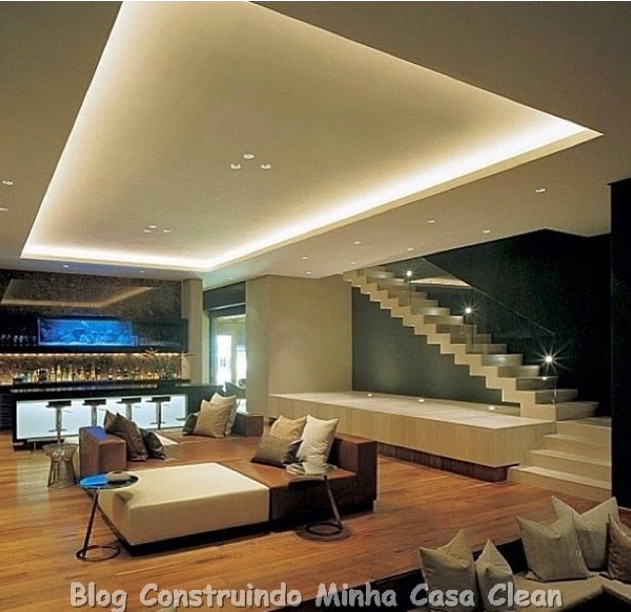 Sala de estar bonita e barata