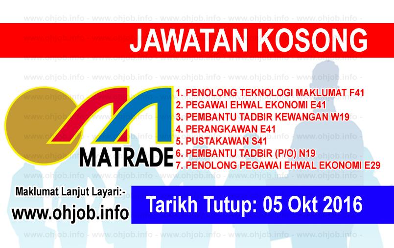 Jawatan Kerja Kosong Perbadanan Pembangunan Perdagangan Luar Malaysia (MATRADE) logo www.ohjob.info oktober 2016