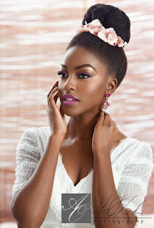 Updo for natural African American Hair