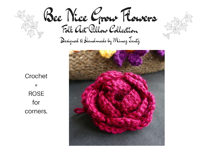Crochet rose flowers by Minaz Jantz