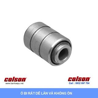 Bánh xe chống tĩnh điện Colson xoay khóa phi 100 | 2-4646-445C-BRK4 www.banhxeday.xyz sử dụng ổ bi