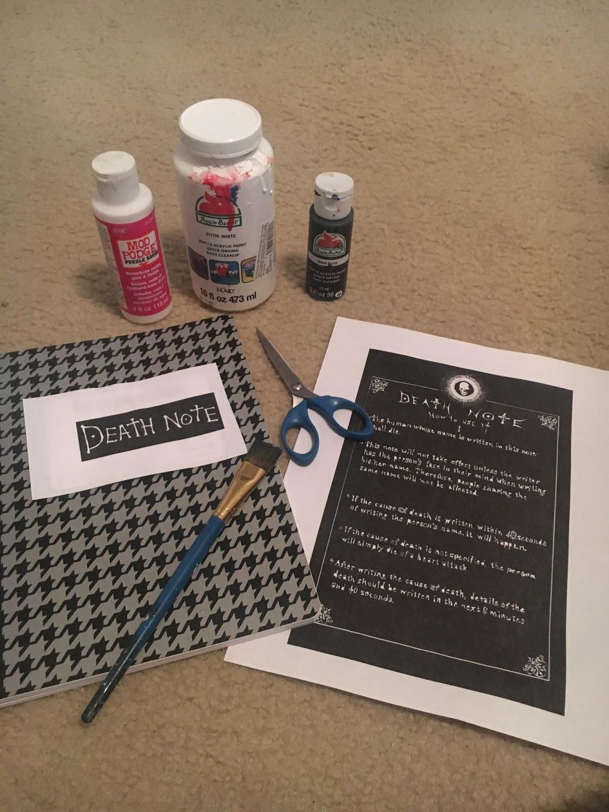 domokeudesu\'s wonderland: DIY: Death Note notebook + EXO Lotto ...