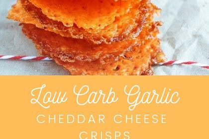 Garlic Cheddar Cheese Crisps