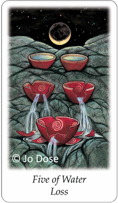Vision Quest Tarot Five of Water Loss