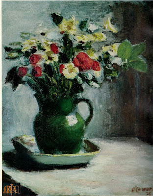 P5 Flowers in a Green Jug by Roderic O'Conor