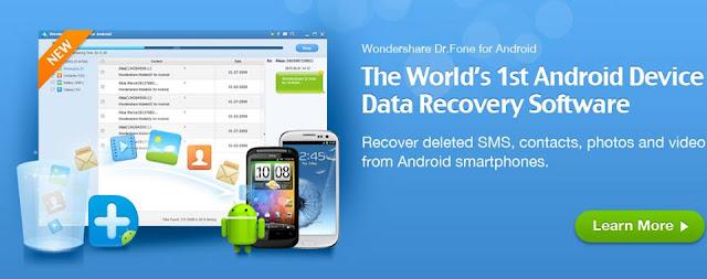 اسهل واسرع طريقة لاسترجاع رسائل SMS النصية المحذوفة من هواتف الاندرويد عبر برنامج Wondershare