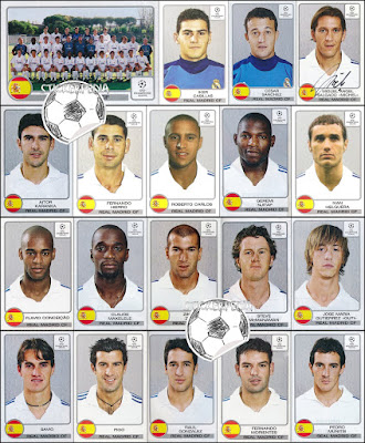 Panini Champions League 2001/02 real Madrid