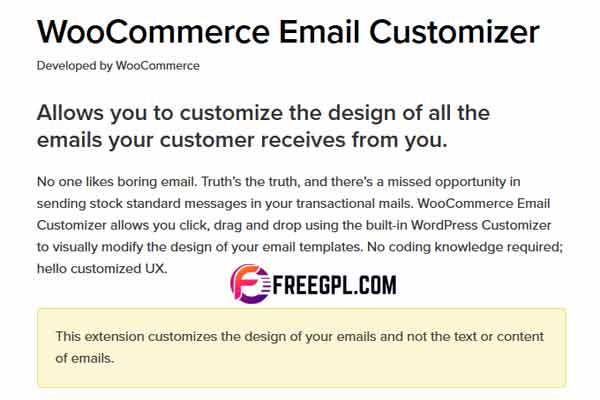 WooCommerce Email Customizer WordPress Plugin Free Download