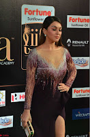 Hansika Motwani in Glittering Deep Neck Transparent Leg Split Purple Gown at IIFA Utsavam Awards 17.JPG