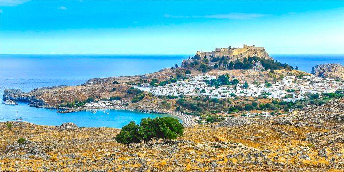 Lindos, isola di Rodi, Grecia