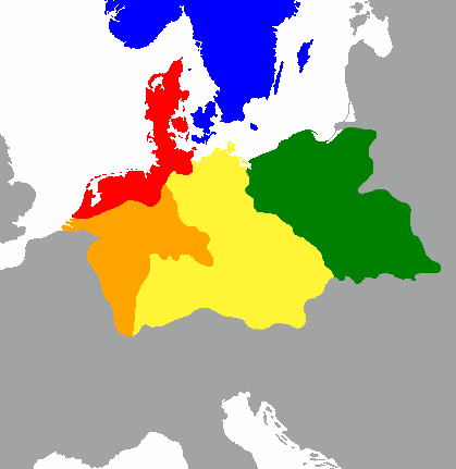 The distribution of Germanic dialects 2000 years ago