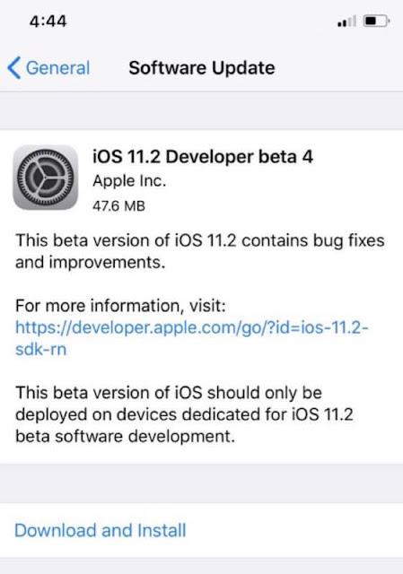 ابل تطلق iOS 11.2 beta 4 للمطورين للاختبار