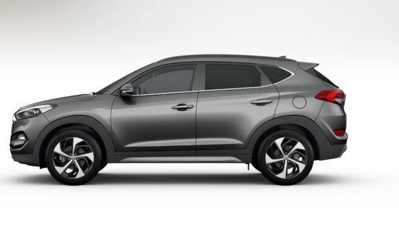 colori Nuova Hyundai Tucson 2016 Grigio Intermedio - Micron Grey profilo laterale di lato