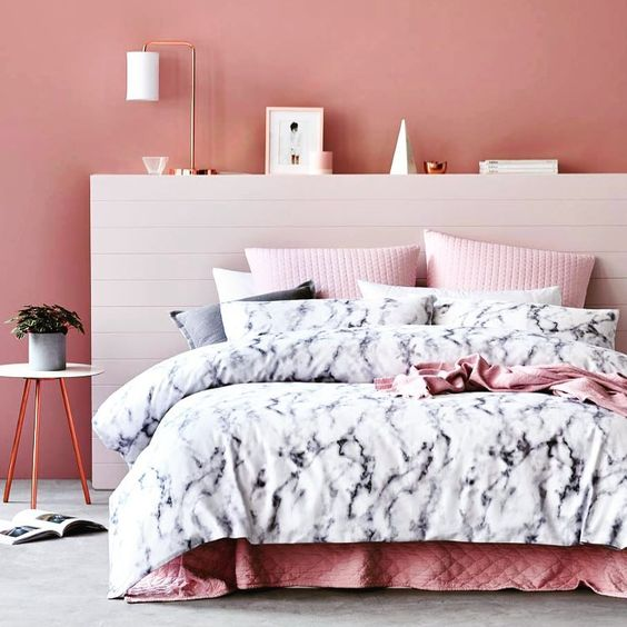 12 Pink And Grey Bedroom Ideas: Dorm Decor Week: Rose Gold & White Marble Inspiration Board