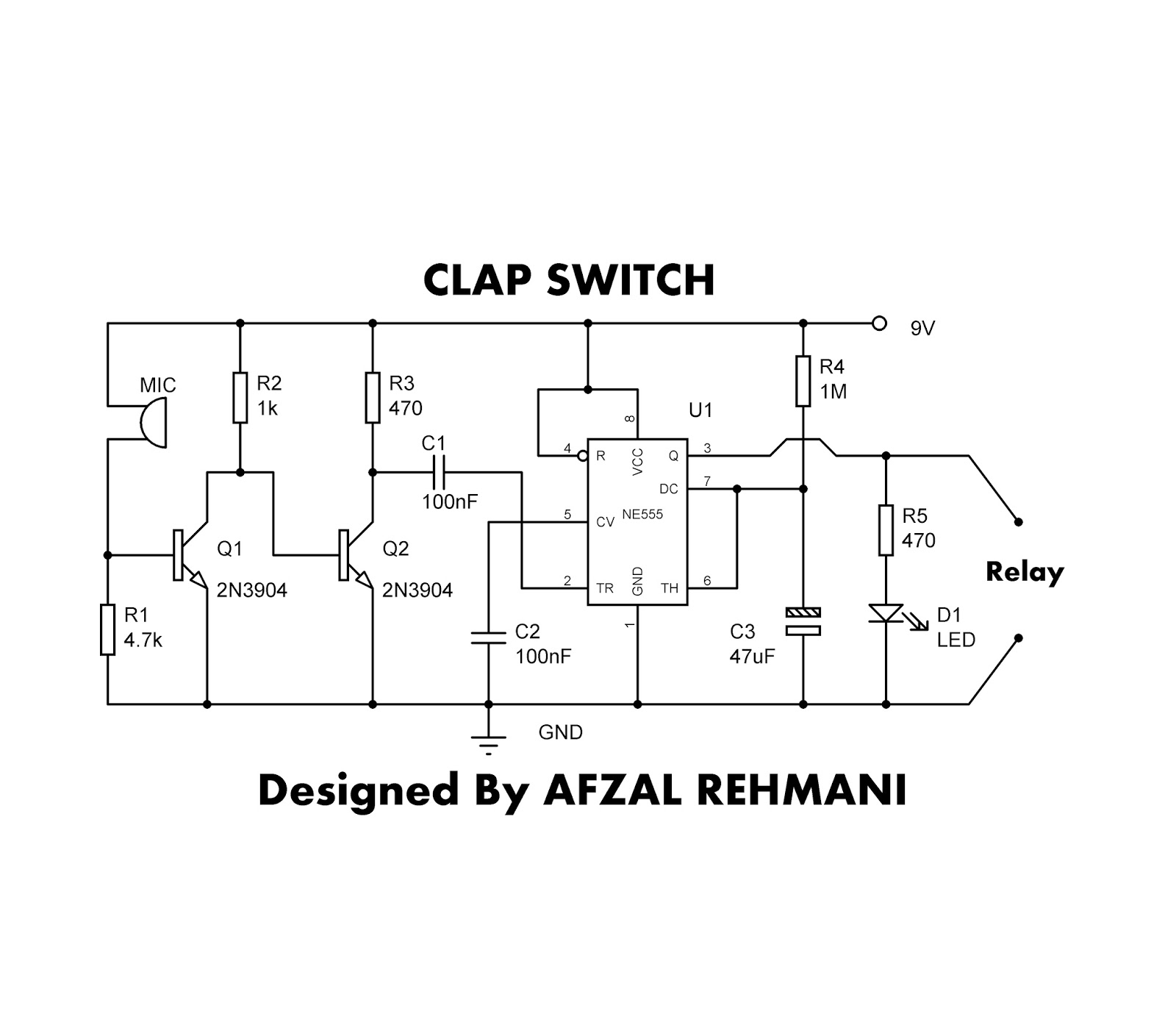 555 Timer Clap Switch