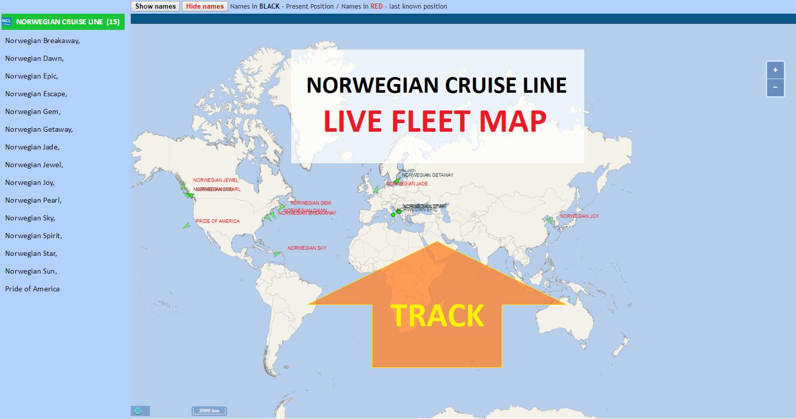 Norwegian Cruise Line Tracker