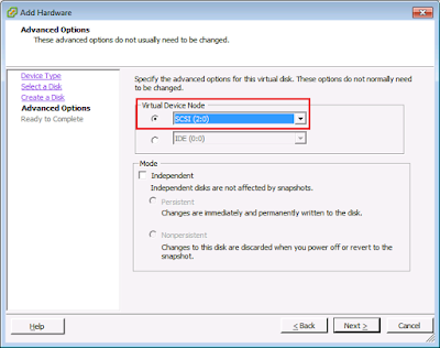 VMware Shared Storage configuration for Oracle RAC