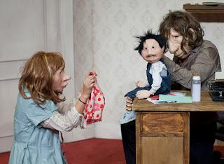 André y Dorine con su hijo cuando era pequeño