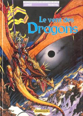 couverture de Les Chroniques de la lune noire T2 le vent des dragons de Ledroit et Froideval chez Zenda