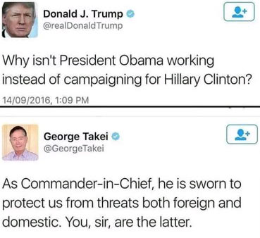 See how George Takei dished epic reply to Donald Trump