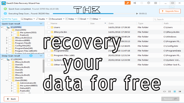 download and install Data Recovery Wizard and recovery your data for free