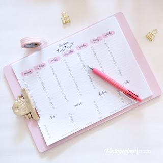Free week planner
