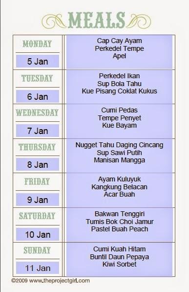Menu Makan Seminggu : makan, seminggu, Masakan, Seminggu