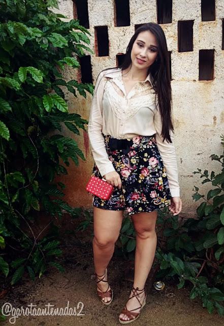 look-romantico-camisa-saia