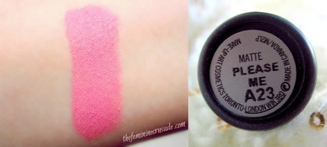 MAC Lipstick in Please Me - swatch