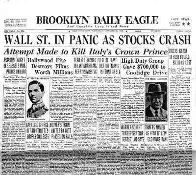 1929 The Stock Market Crashed