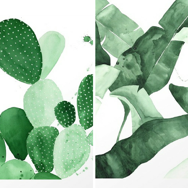botanical inspiration AESTATE on society6 • the Round Button blog