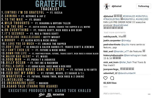 """Grateful"" Tracklist Is Out"