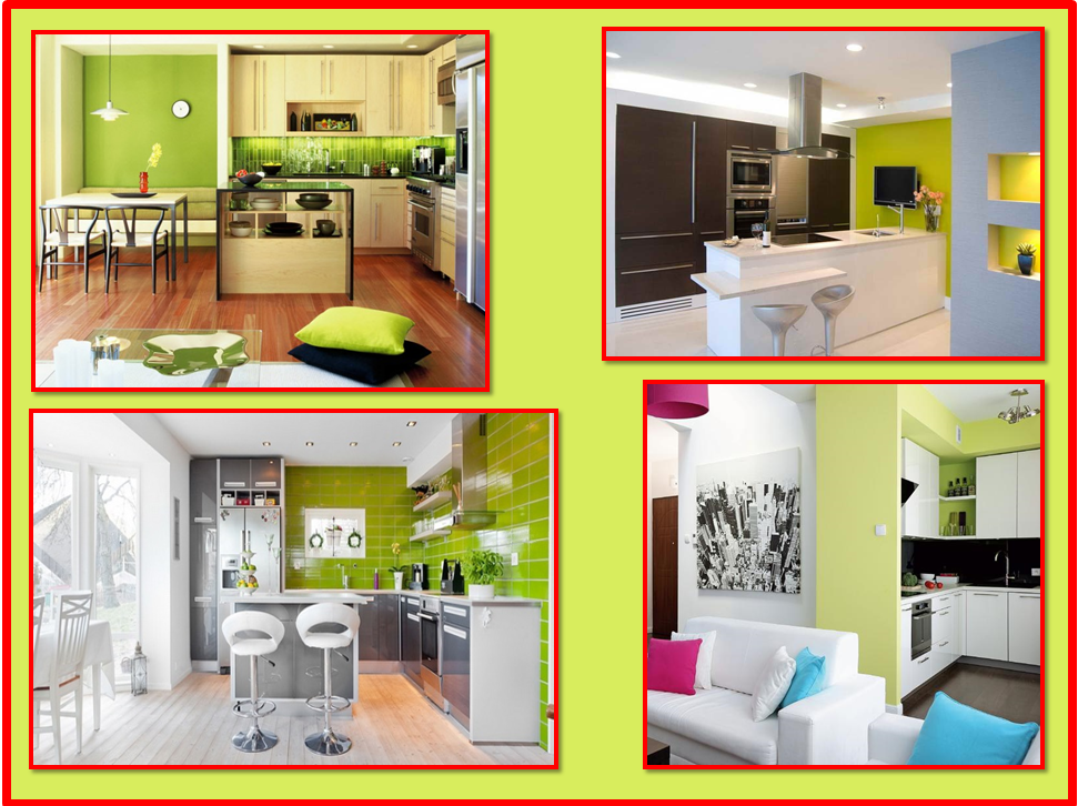 Parete colorata in cucina | Gena Design