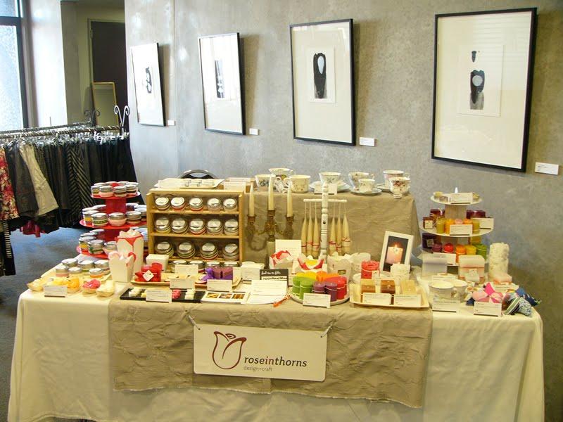 Craft Fair Candle Displays
