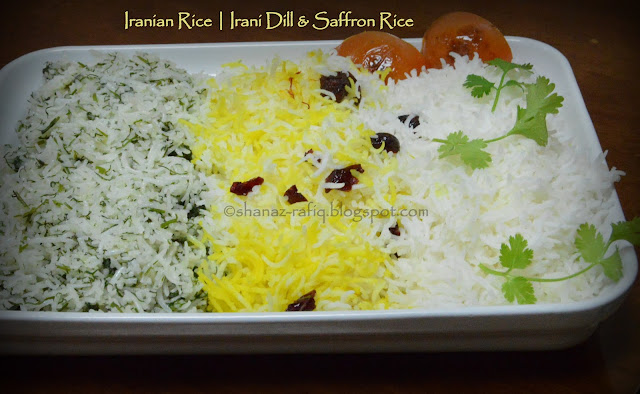 Dill Rice, Saffron Rice, Butter Rice