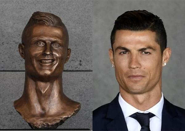 Cum arata bustul lui Cristiano Ronaldo de pe aeroportul din Madeira