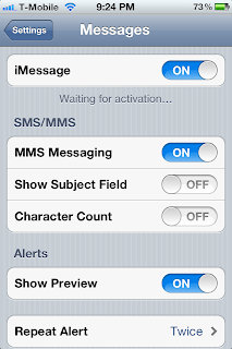 imessenger waiting for activation