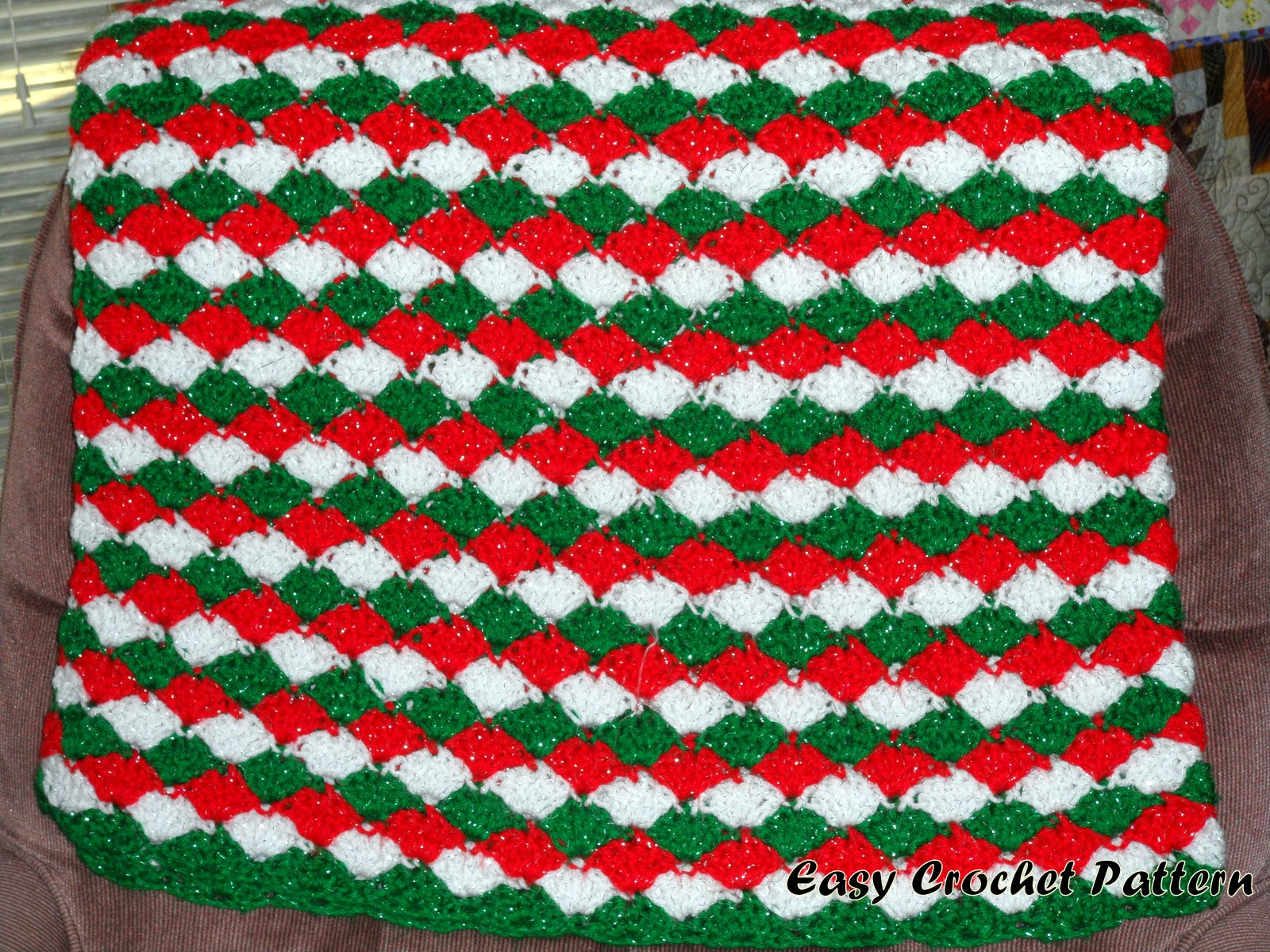 crochet christmas chair covers black wooden chairs easy pattern november 2012
