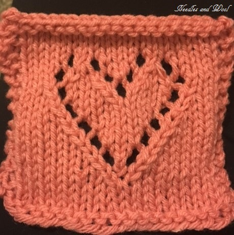 Needles And Wool Stitchy Saturday Lace Hearts Knit