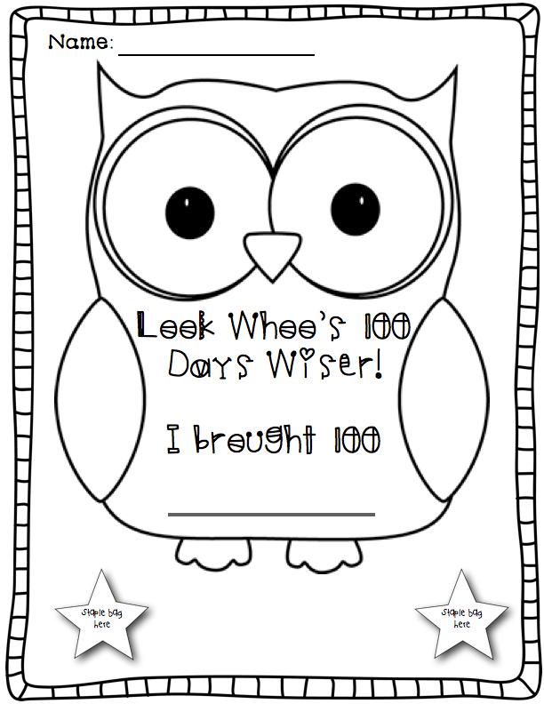 Happy Little Kindergarten: Look Whoo's 100 Days Wiser